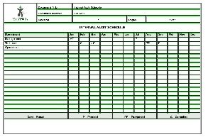 Internal Audit Schedule Sample Templates  Detailed Schedule Template
