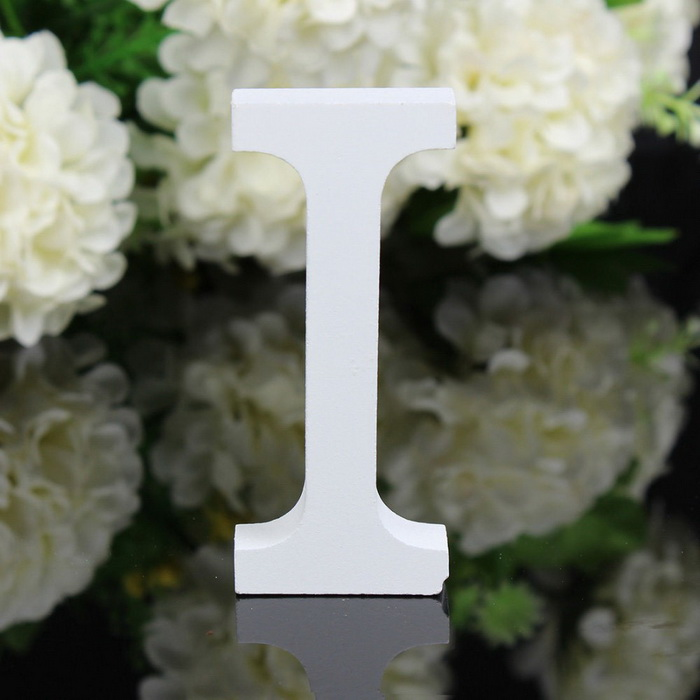 Home Decor Decoration Thick Wood Wooden White Letters Alphabet For