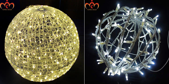 Large lighted christmas balls cheap lighted snowball for Outdoor christmas balls that light up
