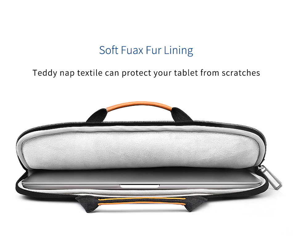 WiWU 2019 Hot Selling Laptop Stand Sleeves Waterproof Faux Fur Lining Laptop Bag For Tablets