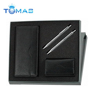Best selling design wallet belt pen gift set for men