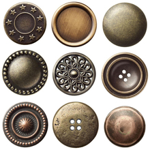 Various Styles Metal Sewing Button, Denim Metal Jeans Button Silver