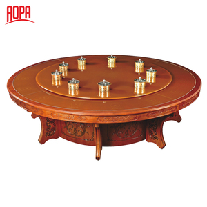 AOPA Z36 luxury wood malaysia round rotating dining table