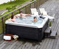 Cheap High Quality 5 Persons Outdoor Acrylic Whirlpools Spa Hot Tub