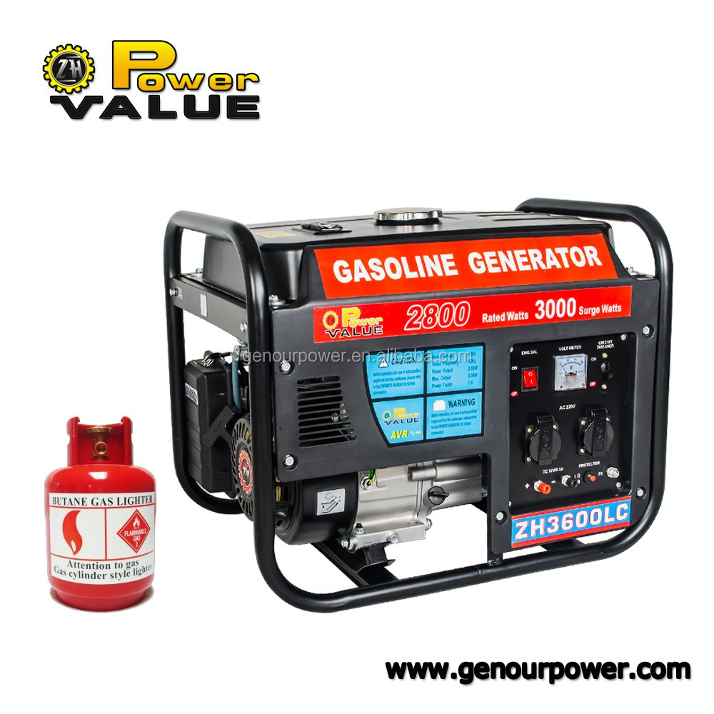 Power Value 2kw 2000w ac single phase Gas Engine Gaz Generator