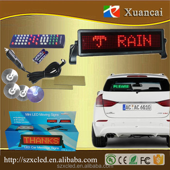 MLD-N848R-M drivemocion 12Voltage message led car sign