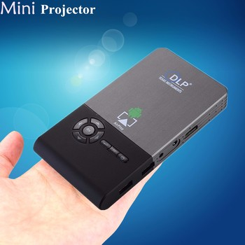 2019 DLP Mini Projector C2 TF Card Android 4.4 Home Theater Wifi Mic Projector