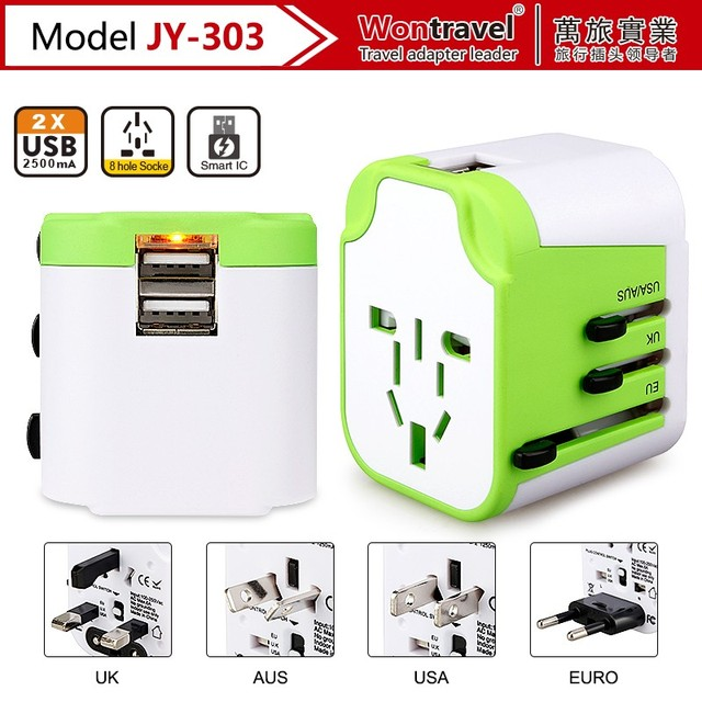 Universal travel plug adapter world usb wall charger electrical plugs and socket