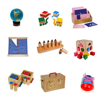 School Wooden Educational Montessori Materials learning center Kids Christmas Montessori Toys