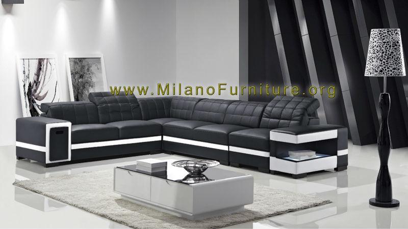 Corner Sectional Leather Sofa