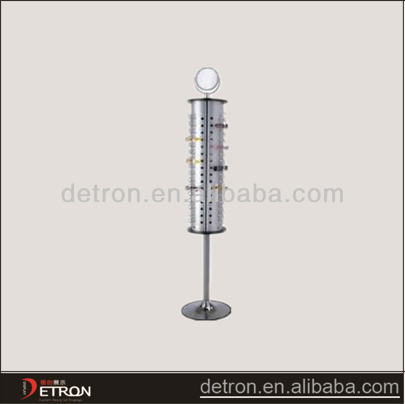 New design art glass metal display stand