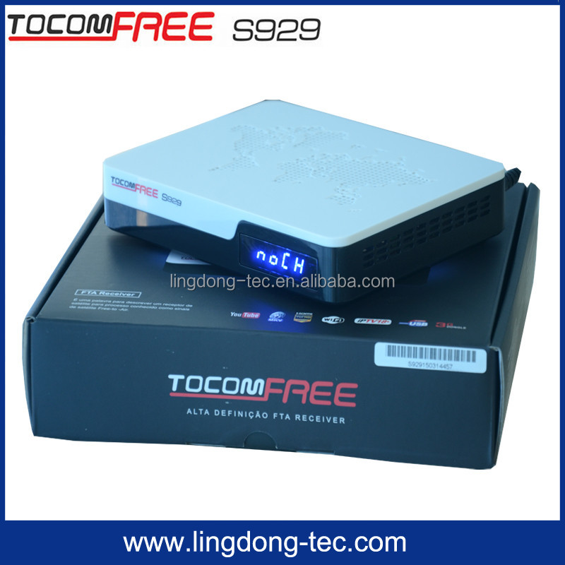 FTA DVB-S2 MPEG-4 Full <strong>HD</strong> Digital satellite receiver twin tuner <strong>hd</strong> tocomfree s929 with free iks sks for Latin America