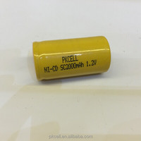 Industrial PVC Packaging 1.2V 2000mAh Nicd SC Rechargeable Battery