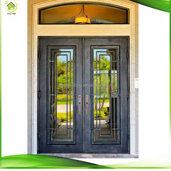 Custom Wrought Iron Double Doors Iron Entry Doors Iron Gates For