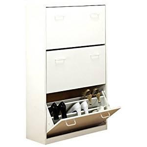 Venture Horizon 4240-11WH Shoe Cabinet, Triple, White