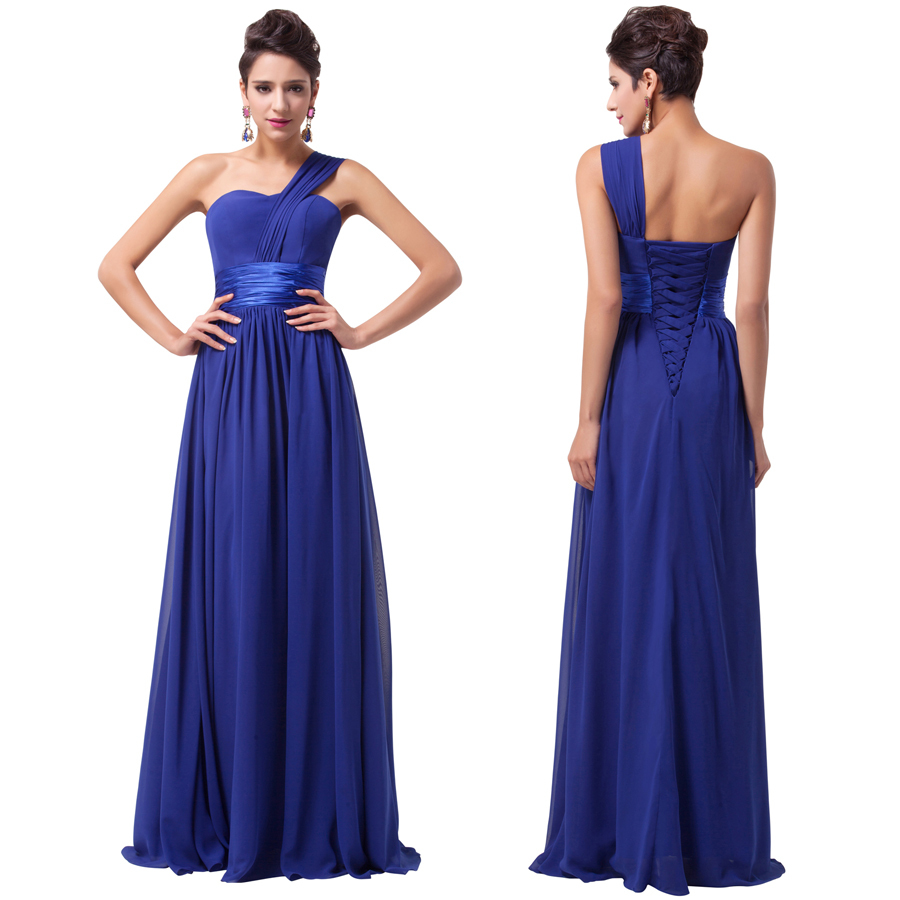 Cheap Royal Blue Dress One Shoulder, find Royal Blue Dress One ...