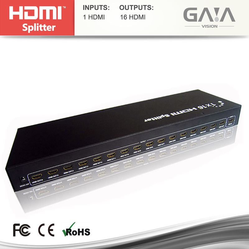 Hot sale 1.3b 16 ports splitter hdmi distributor 1 input 16 output