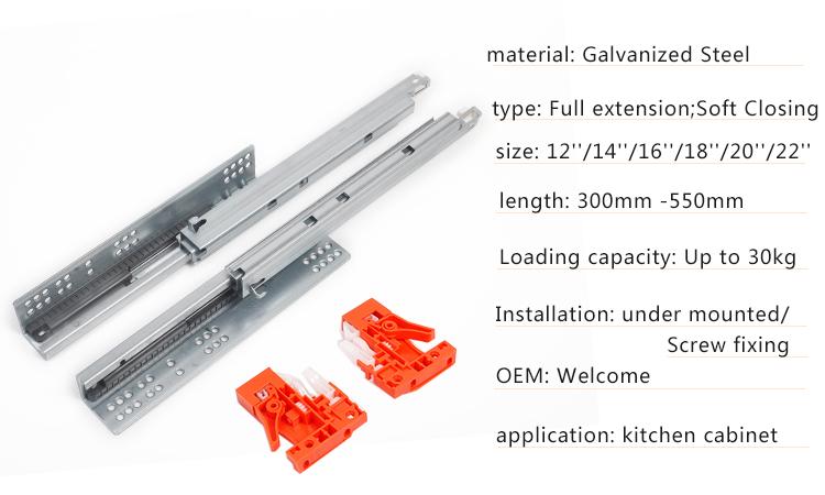 hydraulic undermount drawer slide