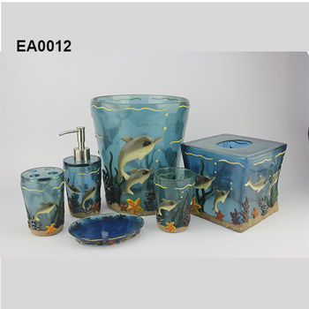 Ea0012 dolphin bathroom accessories for home decoration or for Bathroom accessories hs code