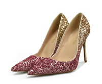 bling bling sexy high heel shoes women high heel pumps shoes formal wedding shoes