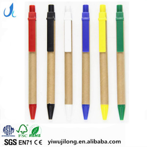 wholesale logo custom novelty design recycle kraft paper ball point pen