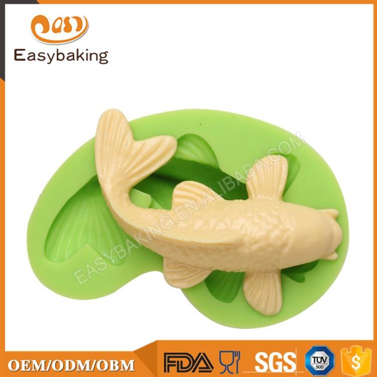ES-0402 Animal Mould Koi Fish Fondant Silicone Molds for cake decorating