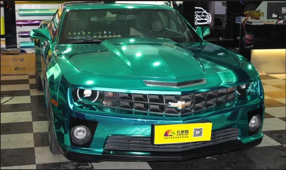 Hot sale colored chrome blue car wrap vinyl of car paint for Chrome paint price