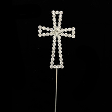 Rhinestone Cross Doop Communie Doop <span class=keywords><strong>Pasen</strong></span> Party cake topper voor <span class=keywords><strong>decoratie</strong></span>