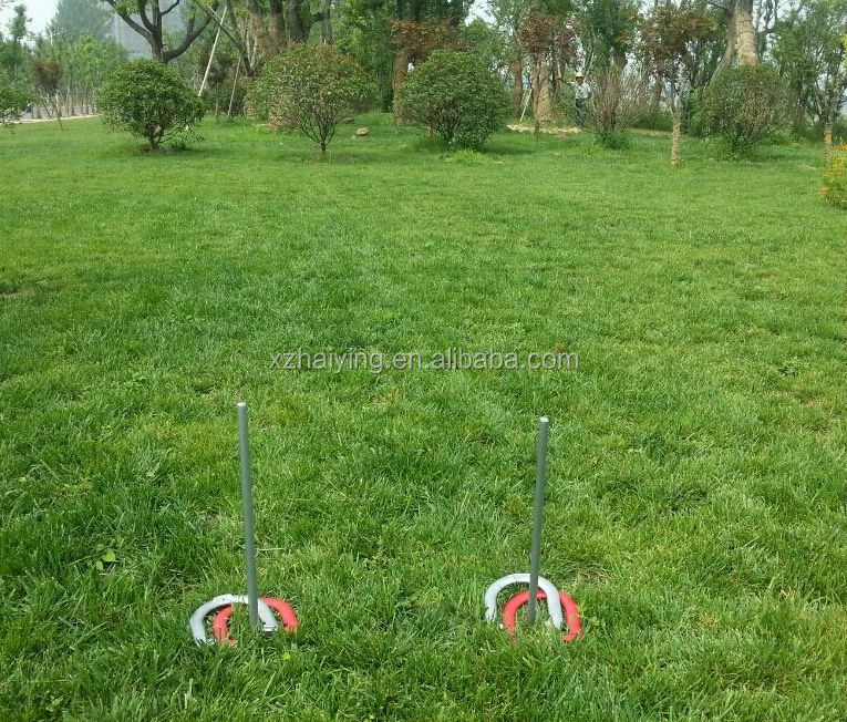 Set Of Sportcraft Horseshoes Pitching Game Steel In Wooden