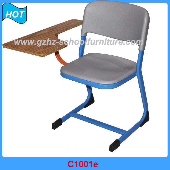 Comfortable training room chair with writing pad