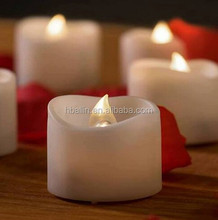 Moving wick electronic 3pcs flameless led remote candles