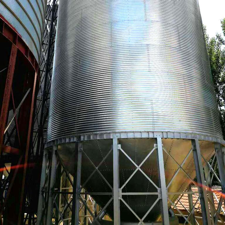 Hot sale hopper bottom grain storage silos prices