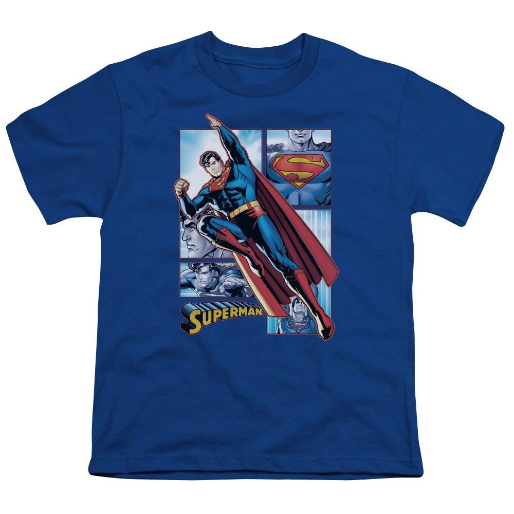 2837f3fcd3bddd Get Quotations · Simply Superheroes boys superman panels t shirt