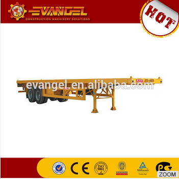 2 axle low bed semi trailer for utility and truck trailer price