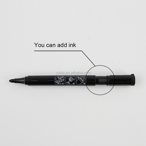 Permanent marker Custom Refillable Permanent Fabric Marker Pen With Non-toxic Oil Ink