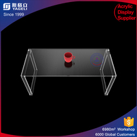 Free standing U shape acrylic solid surface office desk