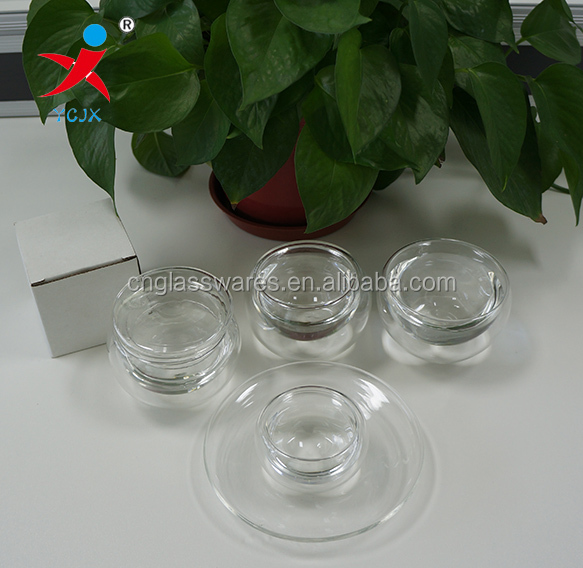 30ml~100ml small size cup set double layer glass cup with white gift box