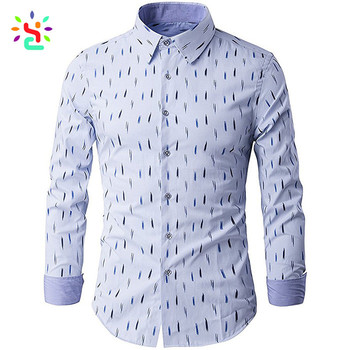 74b7b444cd2c Wholesale Men Formal Shirt Long Sleeve Polo Slim Fit Business Dress Shirts  Solid Cotton Apparel Manufacturer