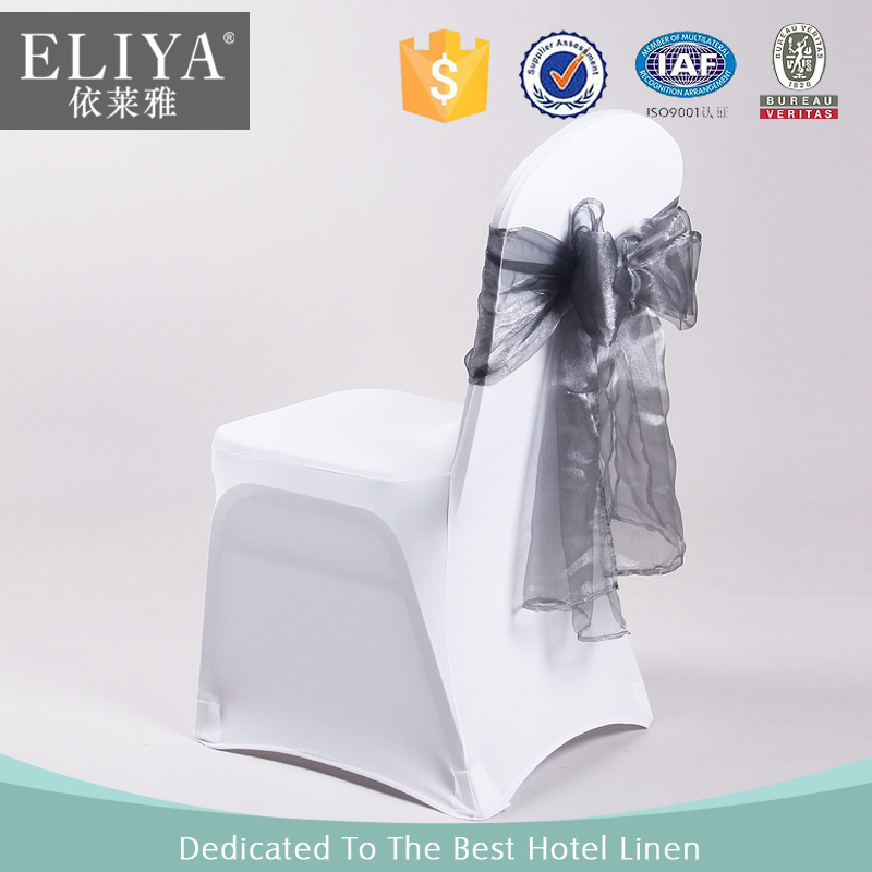 ELIYA Factory Polyester Cheap Spandex Wedding White Chair Cover Wholesale