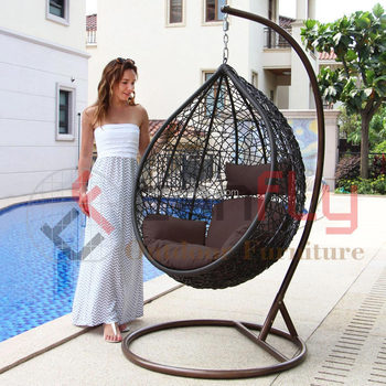 Outdoor Rattan Swing Hanging Heart Shaped Egg Chairs For Sale
