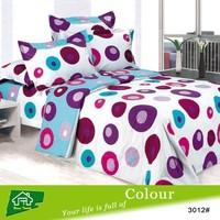 microfiber pigment printing twin bedding comforter set