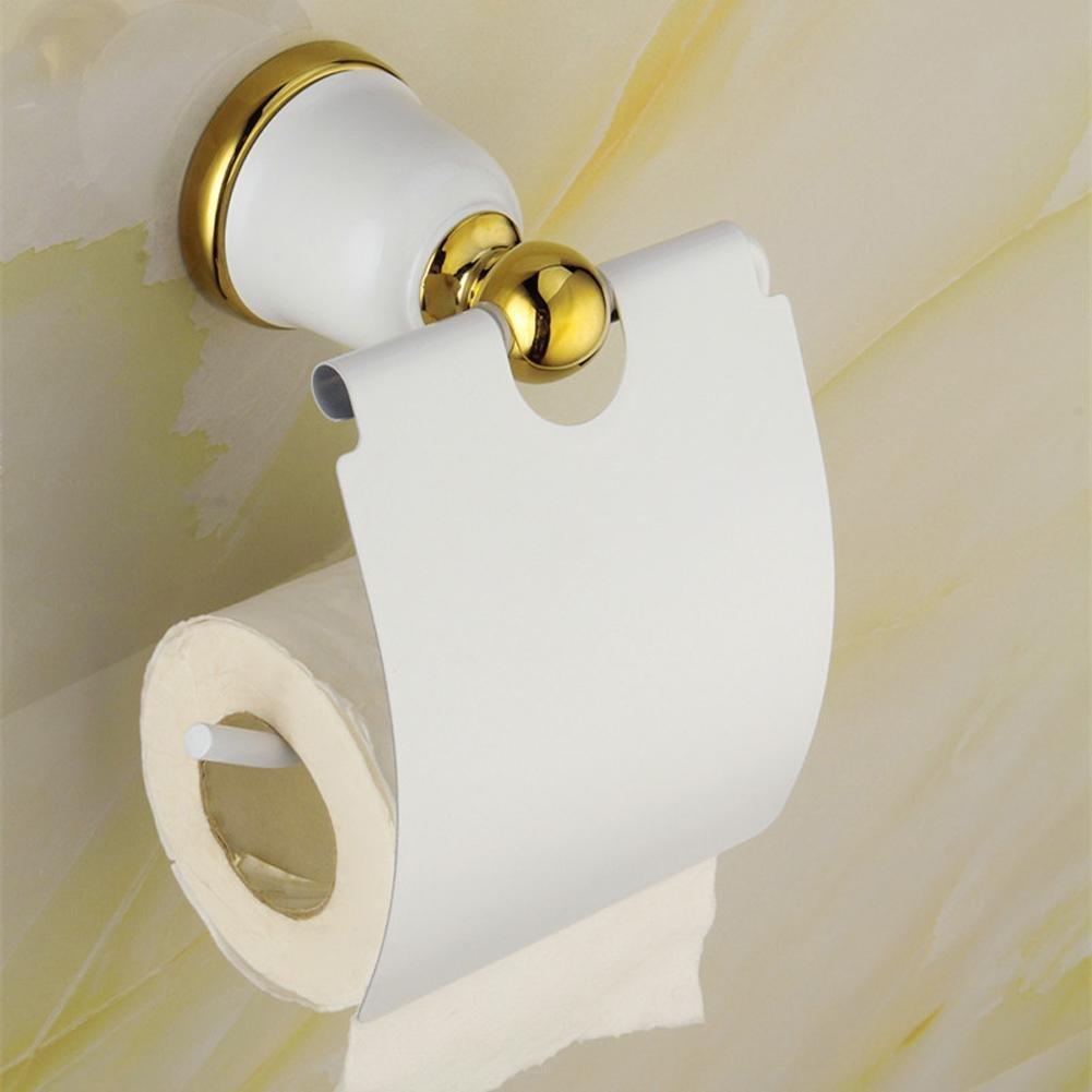 Buy SAEJJ-Gold-plated stainless steel toilet paper holder gold ...