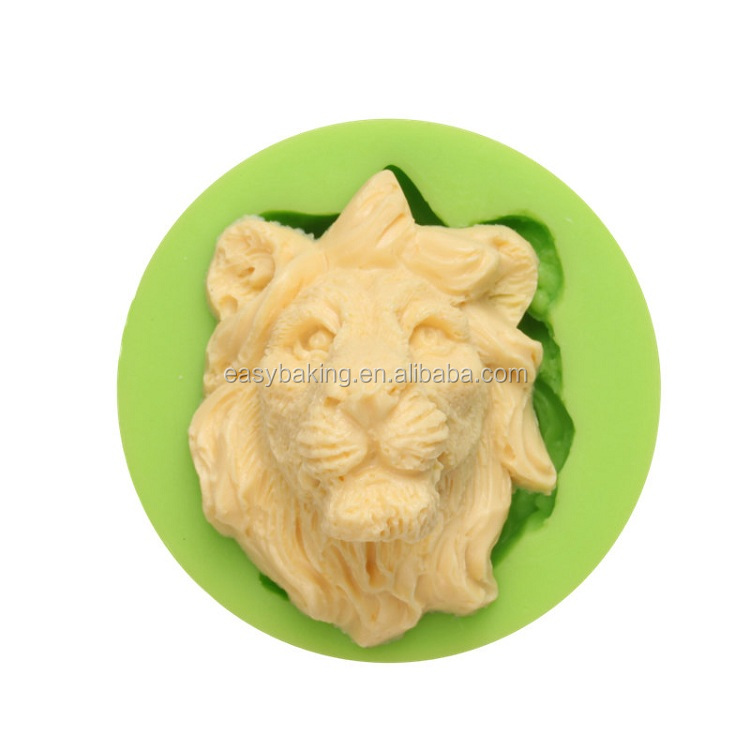 ES-0023 Lion Head Silicone Molds Fondant Mould for cake decorating.jpg