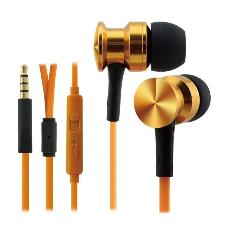 Factory supply wired bass stereo Metal headphone earphone with Mic