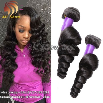 Ali Show High Quality 9A Hair Bundles 26 28 30 Inch Malaysia Loose Wave Hair Bundles