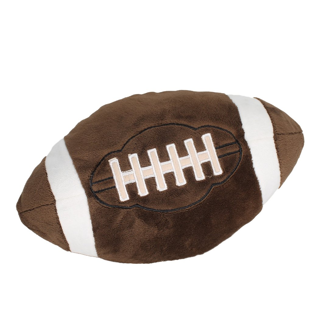 CatchStar Football Plush Pillow Fluffy Stuffed Ball Throw Soft Durable Sports Toy Gift for Kids Room Decoration