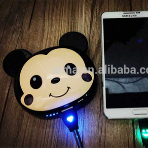 Cartoon Mickey 12000mAh Power Bank For iphone Portable Charger External Battery Backup