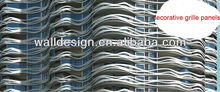 metal grille wall panel of exterior material