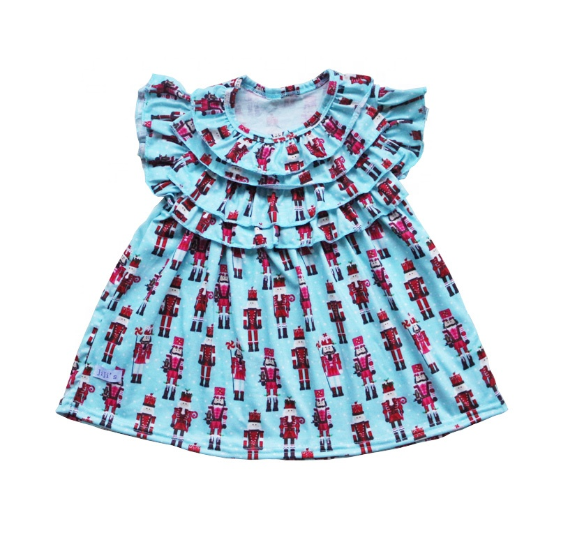 Ruffles sleeves <strong>baby</strong> girl party dress <strong>frocks</strong> designs <strong>cotton</strong> lovely kids clothes summer 2019