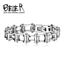 Wholesale PUNK Biker 316L STAINLESS Steel Mens Bracelet Fashion Jewelry Bike Bicycle Chain Bracelet Jewellery Free Shipping
